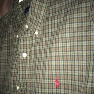 Green plaid Polo Ralph Lauren Button down